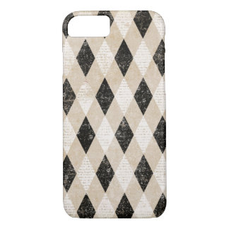 Vintage Diagonal Argyle Grunge iPhone 7 case