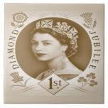 Vintage Diamond Jubilee Celebration Tiles