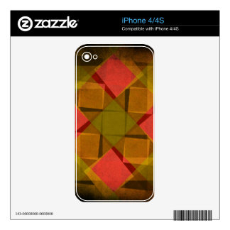 Vintage diamonds and squares pattern decal for iPhone 4S