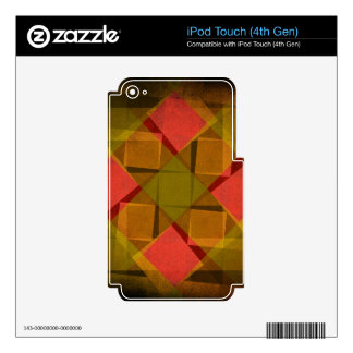 Vintage diamonds and squares pattern iPod touch 4G decals