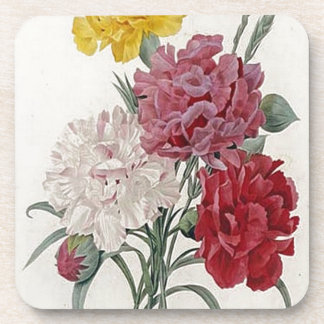 Vintage Dianthus - Photo Album Drink Coaster