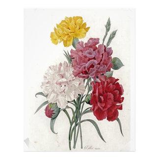 Vintage Dianthus - Photo Album Letterhead