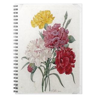 Vintage Dianthus - Photo Album Spiral Notebook