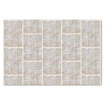 Vintage dictionary page for BOOK Tissue Paper