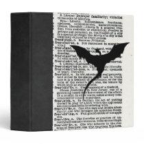 Vintage Dictionary Paper Dragon Medieval 3 Ring Binder