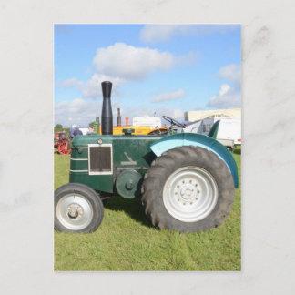 Vintage Diesel Tractor Postcard