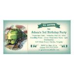 Vintage Diesel Train Birthday Party Invitation Customized Photo Card