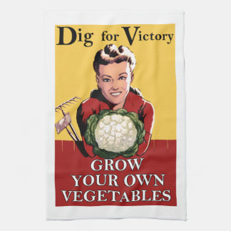 Vintage Dig for Victory Kitchen Towel
