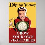Vintage Dig for Victory Poster