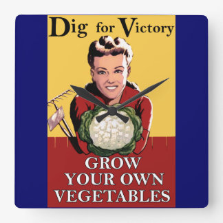 Vintage Dig for Victory Wall Clock