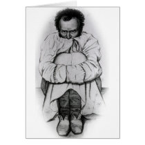 Vintage Dimensia Demented Man in Straight Jacket Card