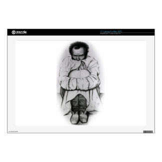 """Vintage Dimensia Demented Man in Straight Jacket Decals For 17"""" Laptops"""