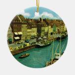 Vintage Dinamarca, costa de Copenhague Ornamento Para Reyes Magos