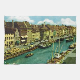 Vintage Dinamarca, costa de Copenhague Toalla