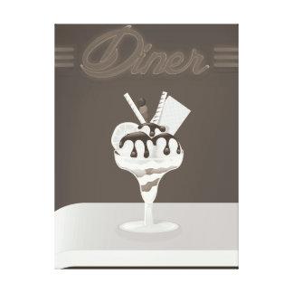 Vintage Diner ice cream restaurant Canvas Print
