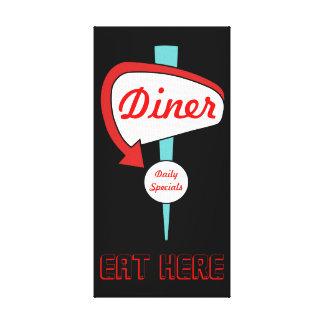 Vintage Diner Sign Canvas