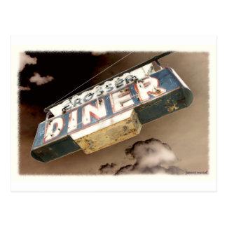 Vintage Diner Sign Postcard