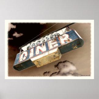 Vintage Diner Sign Poster