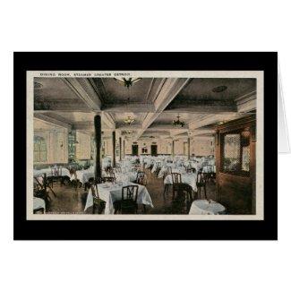 Vintage Dining Room Greater Detroit Steamship card