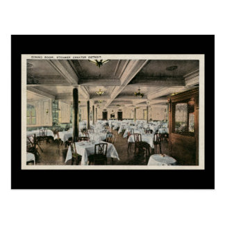 Vintage Dining Room Greater Detroit Steamship Post Card