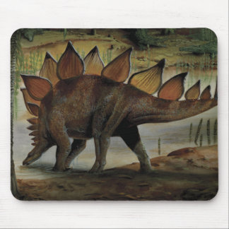 Vintage Dinosaur Stegosaurus Tail with Spikes Mousepads