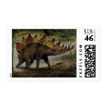 Vintage Dinosaur, Stegosaurus, Tail with Spikes Stamps
