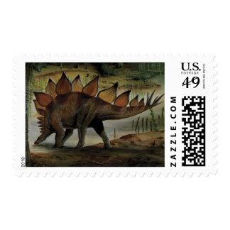 Vintage Dinosaur, Stegosaurus, Tail with Spikes Stamp