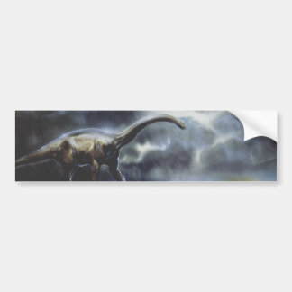 Vintage Dinosaurs, Barapasaurus with Storm Clouds Bumper Sticker