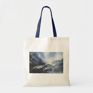 Vintage Dinosaurs, Barapasaurus with Storm Clouds Tote Bag