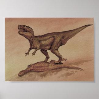 Vintage Dinosaurs, Carnivore Giganotosaurus Poster