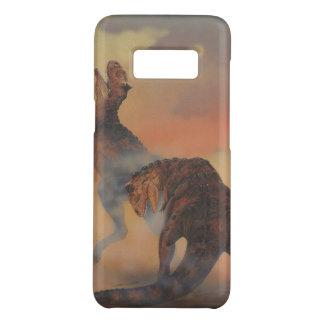 Vintage Dinosaurs, Carnotaurus Roaring in Jungle Case-Mate Samsung Galaxy S8 Case