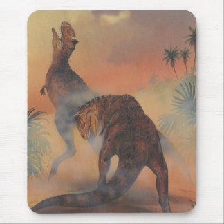 Vintage Dinosaurs, Carnotaurus Roaring in Jungle Mouse Pad