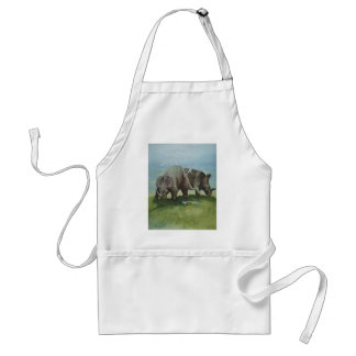 Vintage Dinosaurs, Centrosaurus Grazing in Meadow Adult Apron