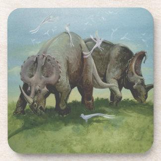 Vintage Dinosaurs, Centrosaurus Grazing in Meadow Coaster