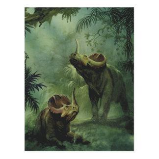 Vintage Dinosaurs, Centrosaurus in the Jungle Postcard