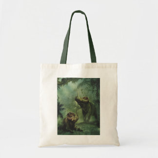 Vintage Dinosaurs, Centrosaurus in the Jungle Tote Bag