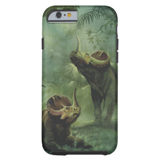 Vintage Dinosaurs, Centrosaurus in the Jungle Tough iPhone 6 Case