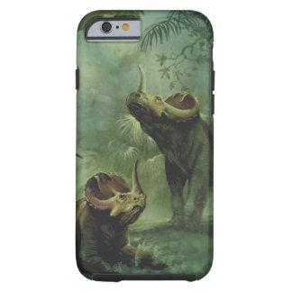 Vintage Dinosaurs, Centrosaurus in the Jungle Tough iPhone 6 Case
