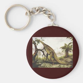 Vintage Dinosaurs, Plateosaurus Grazing on Trees Keychain