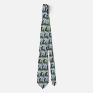 Vintage Dinosaurs, Sauroposeidon with Birds Flying Tie