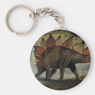 Vintage Dinosaurs, Stegosaurus, Tail with Spikes Keychain