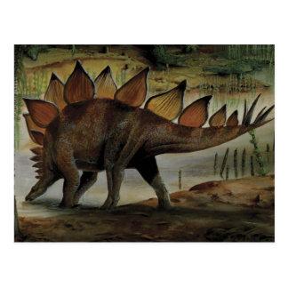 Vintage Dinosaurs, Stegosaurus, Tail with Spikes Postcard