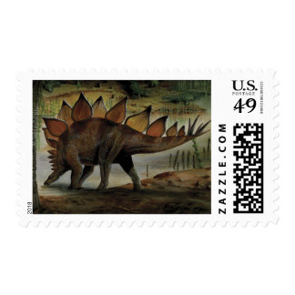 Vintage Dinosaurs, Stegosaurus, Tail with Spikes Stamp