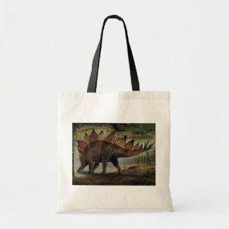 Vintage Dinosaurs, Stegosaurus, Tail with Spikes Tote Bag