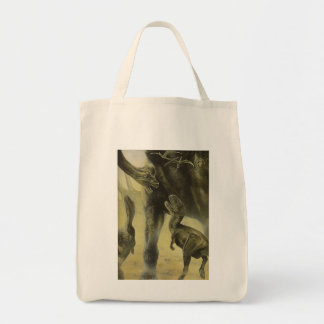 Vintage Dinosaurs, Torvosaurus and Brachiosaurus Tote Bag