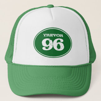 Vintage Dirt Bike Motocross Number Plate - Green Trucker Hat