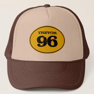 Vintage Dirt Bike Motocross Number Plate - Yellow Trucker Hat