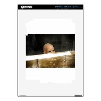 Vintage Dirty Dollhead Peering Out Of Window iPad 3 Skin