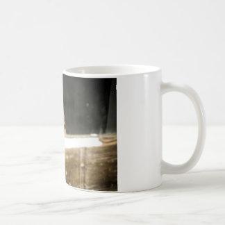 Vintage Dirty Dollhead Peering Out Of Window Classic White Coffee Mug