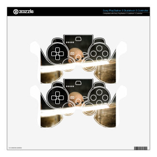 Vintage Dirty Dollhead Peering Out Of Window PS3 Controller Skins